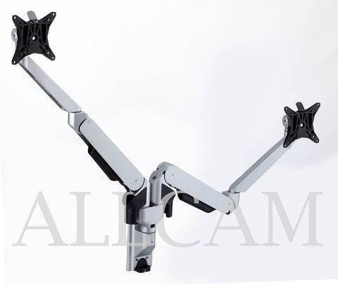 Gsw250d Gas Spring Wall Mount Dual Monitor Stand