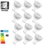Allcam 5W Dimmable LED GU10 Light Bulb 220lm ~ 35W Halogen (pack size Options)