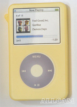 Silicone Skin/Case for iPod Video 60/80GB Yellow