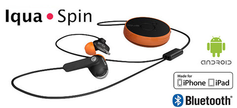 Iqua Splash-proof Sports Headphones/ Wireless Bluetooth Handsfree Headset