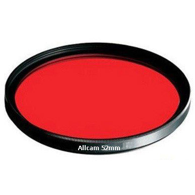 JSP 52mm Thread Red Filter Perfect for Underwater Digital Cameras with a 52mm Threaded Lens Port