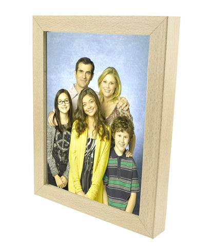 "JSP Photo Frame 10""x8"" Beech Finish, Thick 28mm Border 19mm w/ Acrylic Cover"