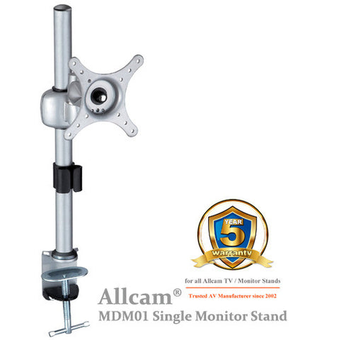 MDM01 Single LCD Monitor Stand Desk Mount Bracket Tilt up/down 30° Swivel left/right 90°
