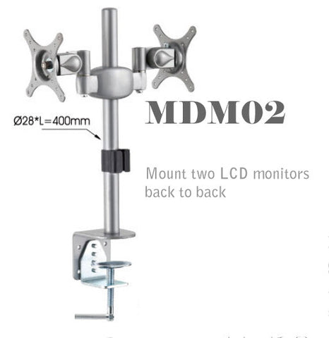 MDM02 Dual Monitor Stand: Mount Two LCD Monitors back-to-back on Desktop