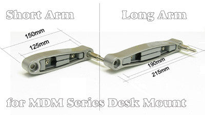 MDM0AL Long Arm for Allcam MDM0X series LCD Monitor Desk Mount Bracket