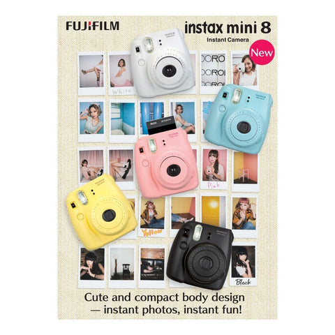 Fuji Instax Mini 8 Instant Photo Camera  (Colour Options)