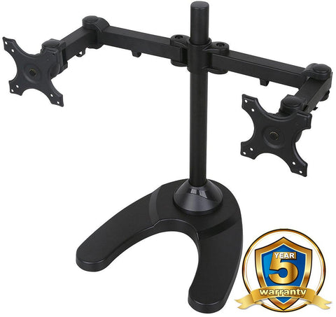 MMS10D Twin Monitor Arm Desk Stand w/ Heavy Duty Base for 2 LCD/LED Monitors