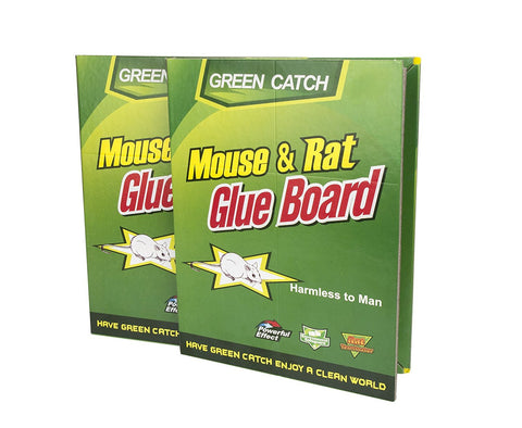 2 Pack - Green Catch Mouse Trap Pad Pest Traps Board