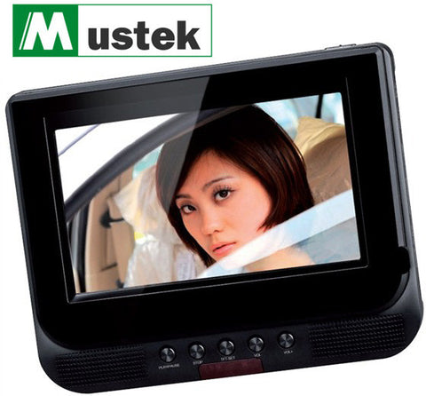 "Mustek 7"" Video Monitor with Stereo Speakers & Headphone Jack (Brown Box)"