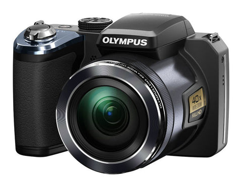 "Olympus SP820 UZ Digital Camera 14MP full HD Video 40xUltra Zoom 3"" LCD Black"