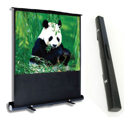 "PCP60MM 60"" Portable Projection Screen Matte White Integrated Carry Case/ Floor Stand"