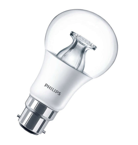 Philips 6W Dimmable Warm Glow LED Light Bayonet B22 Globe Bulbs 470lm ~40W incandescent (pack size Options)