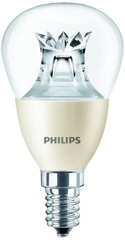 Philips 6W Dimmable Warm Glow LED Bulb E14 Mini Globe/Golf Ball 470lm ~40W Incandescent Lights (pack size Options)