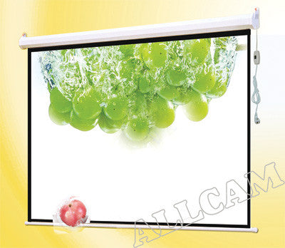 "PCW92ME 92"" Projector Screen Matte White 16:9 Widescreen Electric w/ RF Remote"