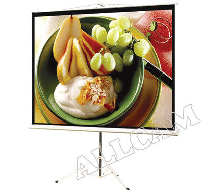 "PT90MM 90"" Portable Projector Screen 4:3 Mobile Presenation w/ telescopic Tripod Mount"