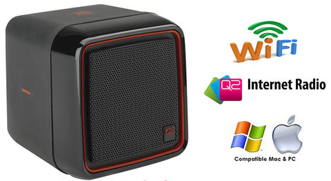 Q2 Wi-Fi Internet Radio with Full Motion Tip and Tilt Control in Black