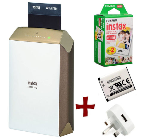 Fujifilm Share SP-2 Smartphone Instant Printer Gold - Bundle Options Available