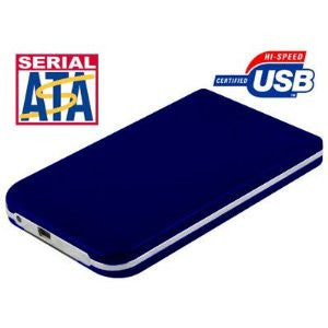 "S25 USB2.0 2.5"" SATA Hard Drive Enclosure Portable in Dark Blue"