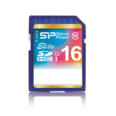 <b> Silicon Power 16GB Class 10 SDHC Memory Card </b>