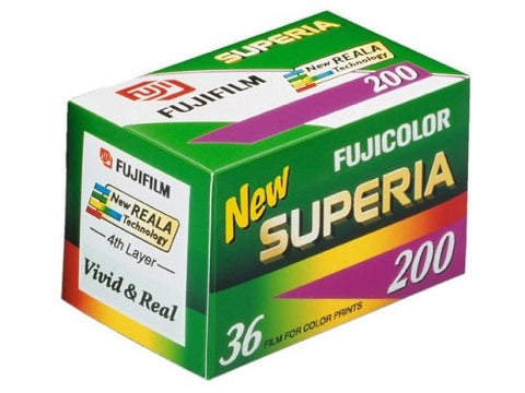Fuji Superia 200 - 35mm 36 Exposures ISO200 (pack size Options)