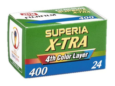 Fuji Superia X-tra 400 - 35mm 24 Exposures Colour Negative (pack size Options)