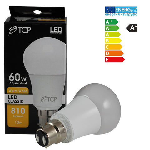 TCP 10W Bayonet B22 LED Bulb 810 Lumen  (~60-70W Incandescent Lights) Warm White