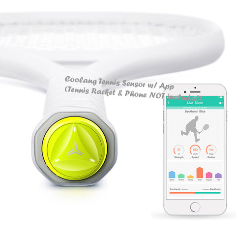 Coollang Tennis Training Aid/ Smart Tennis Sensor & APP: Track, Analyse, Improve, & Share