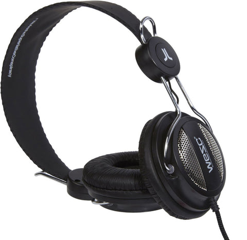 WeSC Oboe Street On Ear Headphones in Black w/ Handsfree and In-line Microphone