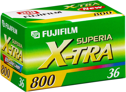 Fuji Superia X-tra 800 - 35mm 36 exp Colour Film ISO800 (pack size Options)