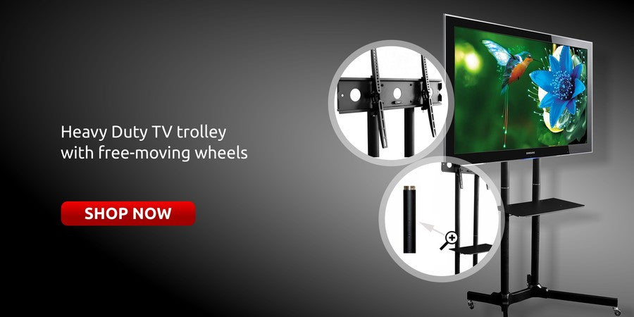 TV trolley stands for office / exhibition