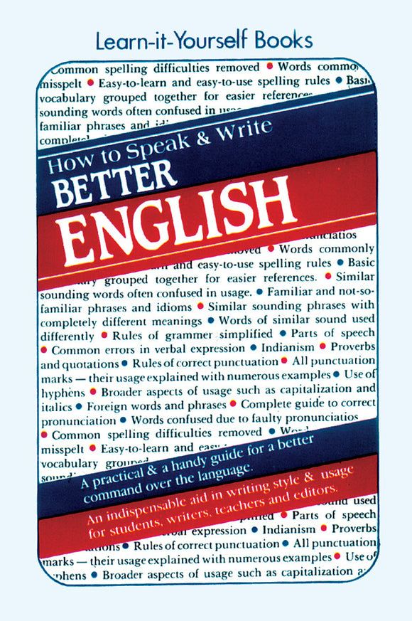 How to Speak and Write Better English - Book Published by Orient Paperbacks