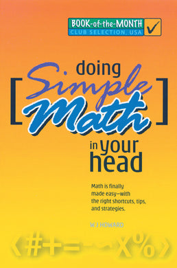 Doing Simple Math in Your Head - Book Published by Orient Paperbacks