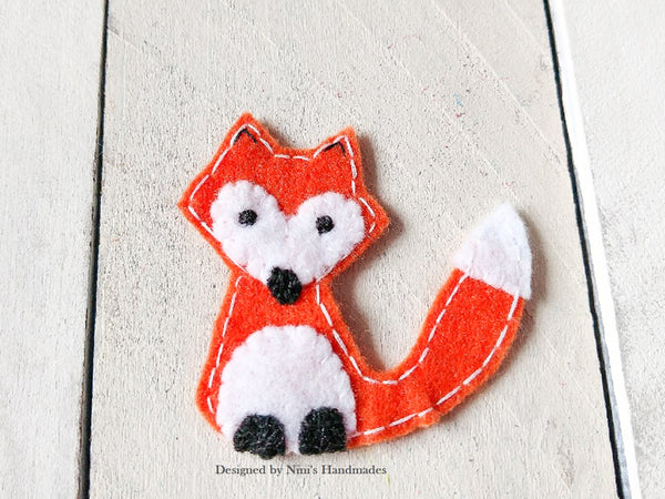 Fun woodland fox inspired iron on felt applique patch u2013 ninis handmades