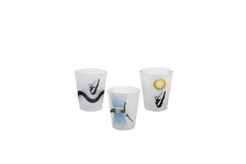 Diver Series Frosted Shot Glass