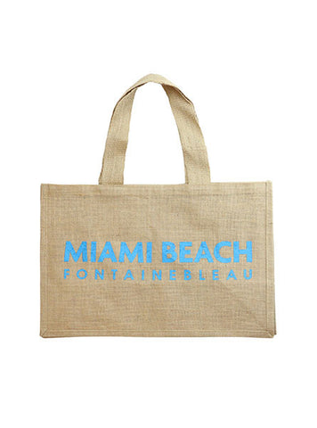 Fontainebleau Miami Beach Jute Bag