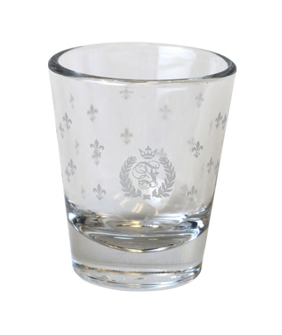 Vintage crest shot glass