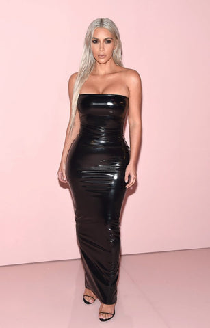 2165da23c6b1 Look fierce in this hot strapless maxi tube dress featuring shiny wet look  fabric and sleek bodycon fit. You are sure to be noticed!
