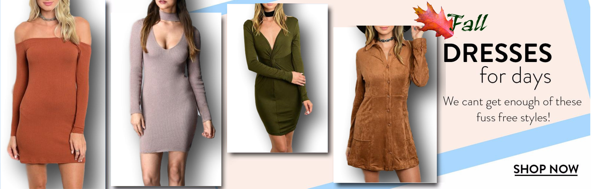Fall Sweater Dresses | Vixen Boutique USA