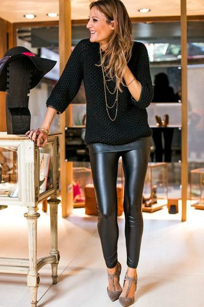 RESTOCKED! 'Downtown' Matte Faux Leather Leggings - Black