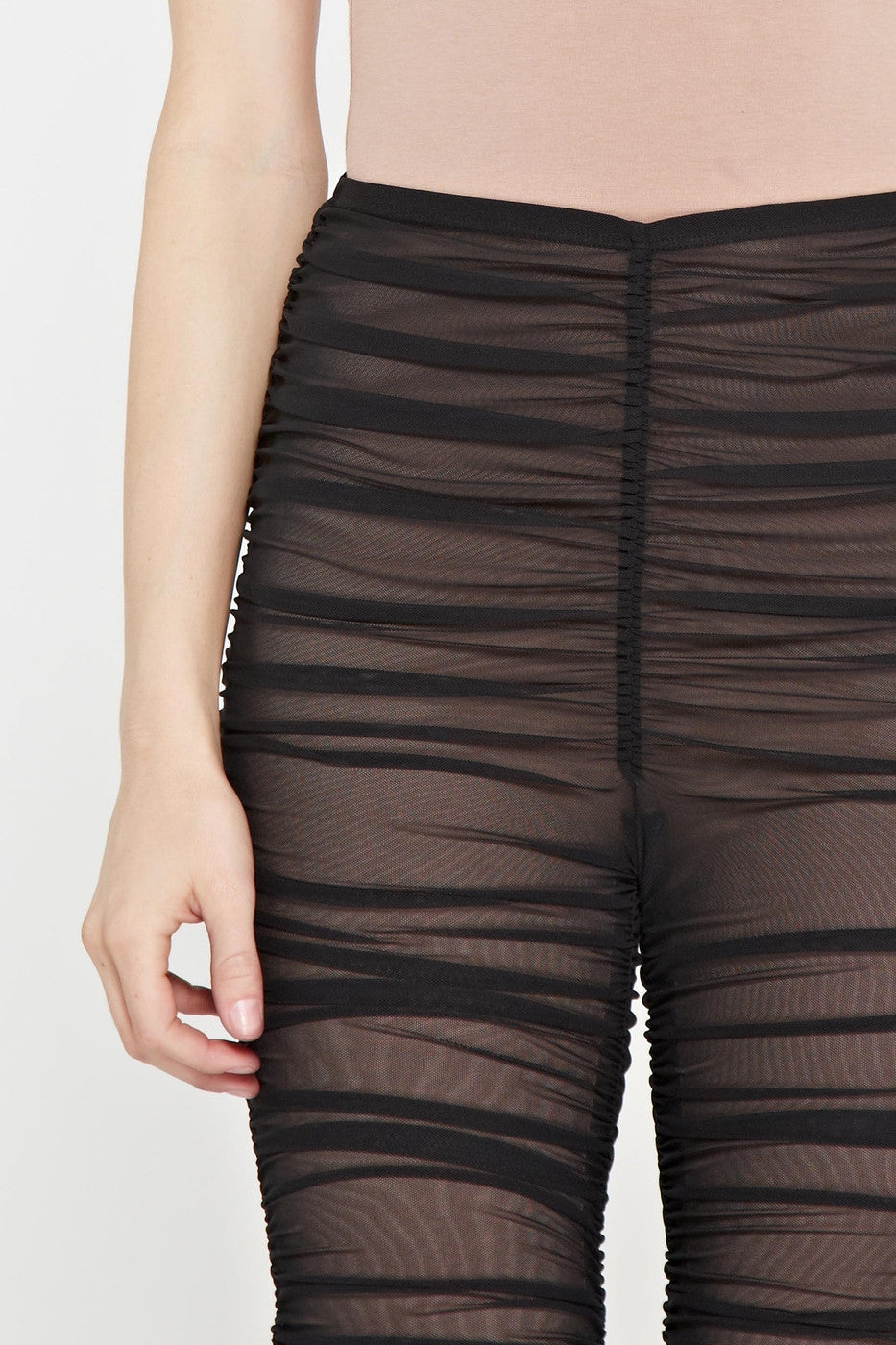 d8e0f45e0701 Buy RESTOCKED! 'After Hours' Ruched Mesh Leggings - Black at Style ...