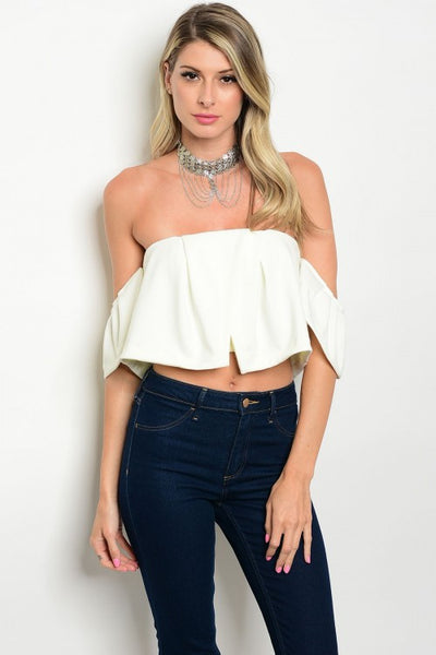 Off The Shoulder Bardot Top - Off White