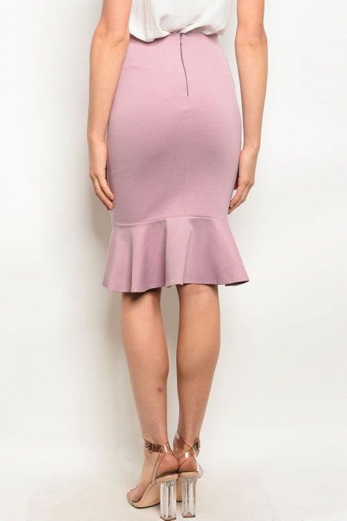 c994eb1808 Buy 'Massiel' Trumpet Midi Skirt - Rose at Style Loft for only $ 29.99