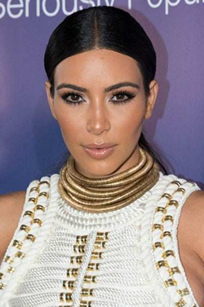 Kim K. Inspired Layered Metallic Choker - Gold - Vixen Boutique