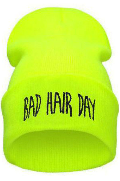Bad Hair Day Skully - Neon Yellow - Vixen Boutique