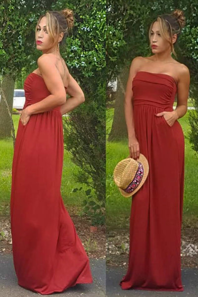 'Summer Days' Maxi Dress - Dark Rust