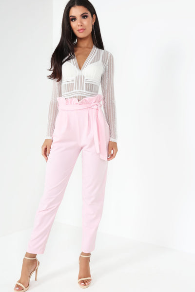 'Secret Crush' Trousers - Pink - Vixen Boutique
