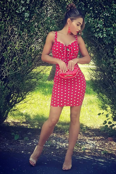 'Lolita' Polka Dot Mini Dress - Red