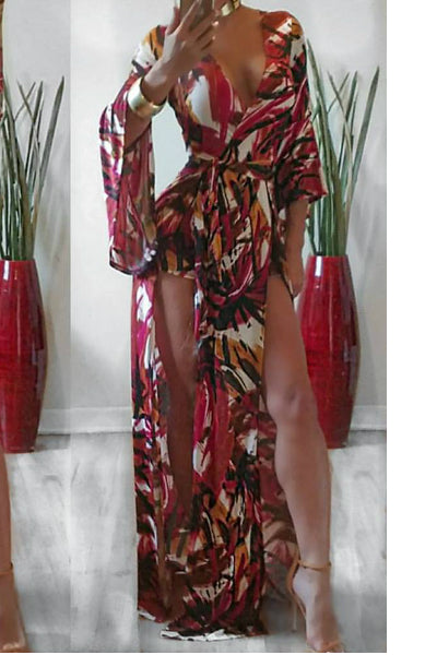 Multi Color Maxi Skort Romper