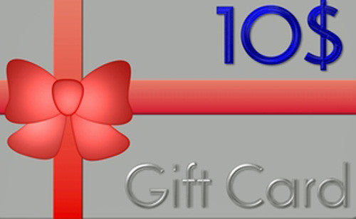 Gift Card For Any Product We Sell Online.  NO Expiration Date.