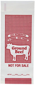 Freezer Bags - Ground Beef - 1 Lb. Size